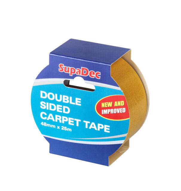 SupaDec Double Sided Carpet Tape 48mm x 25m Strong joint seal flooring fix New