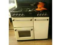 Range Cooker Dual Fuel, fan, cost £900