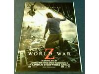 GIANT MOVIE POSTERS World War Z etc ALL 6ft x 4ft