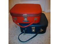 Pair of Vintage Retro Vanity/Travel cases