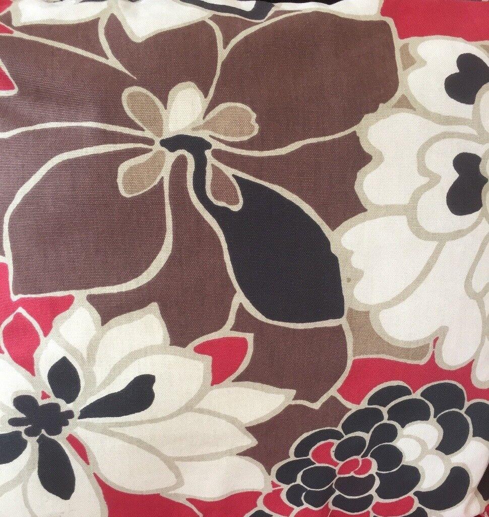 Red Mix Curtains, Single width 128cm, Drop 242cm, Unlined, £20per set, 4 sets available