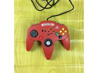 NINTENDO 64 COMPETITION PRO TURBO CONTROLLER / CONTROL PAD RED