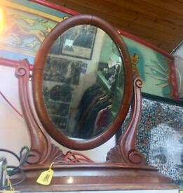 Antique Wooden dressing table or toilet mirror