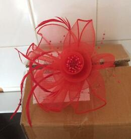 Red Headband Fascinator