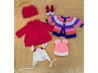 Baby girl coats hats and footwear 0-3 months