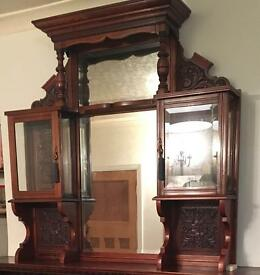 For Sale Wooden display unit & mirror