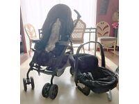 Mamas and Papas Pramette Stroller Pushchair baby boy girl