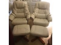 NEED GONE TODAY-2 FAUX LEATHER CHAIRS RRP £600 A SET