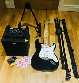 electric guitar mexican stratocaster black