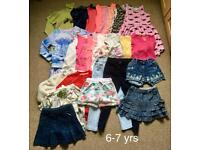 Girl's clothes bundle size 6-7yrs /27 items