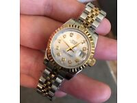 Ladies ROLEX Datejust Bi Metal Watch 26mm