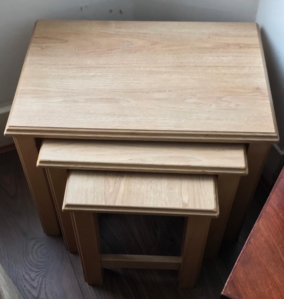 Oak wooden tables