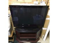 SAMSUNG 42 INCH PLASMA TV WITH CABINET