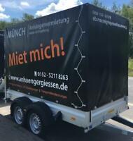 Anhänger, Planenanhänger 2,5 t VERMIETUNG mieten, leihen Umzug Hessen - Pohlheim Vorschau
