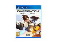 Overwatch PS4 Wanted will pay £17 or swap for GTA 5 PS4 or anything other game I have listed
