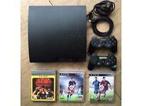 Playstation PS3 160gb slim + FIFA + Tekken + controllers