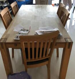 Barker and Stonehouse Table with 8 chairs and sideboard