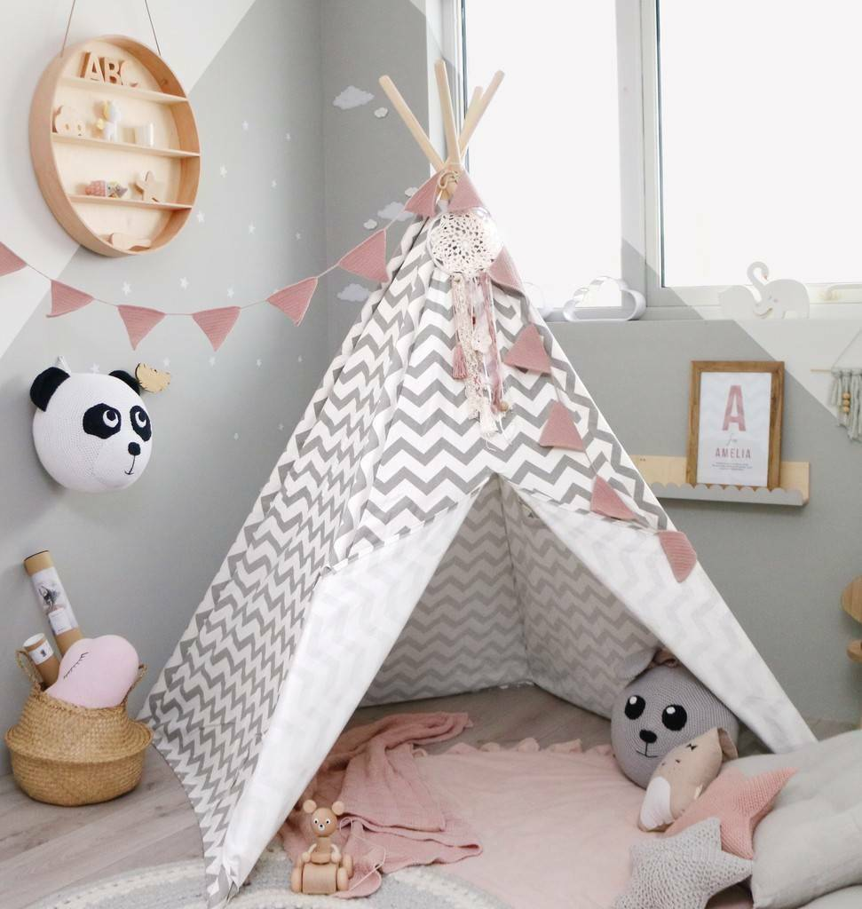 tipi enfants tente toile de coton tipi pour enfants. Black Bedroom Furniture Sets. Home Design Ideas