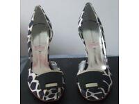 Brand New - Borgovero Cuolo Degli Ulivi Blk/Wht Peep Toe Court Shoes Size 36