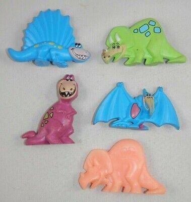 1990 Post Flinstones Fruity Pebbles Dino Dinosaur Toy Figure Cereal Box Premiums