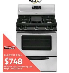 Halton Favourite ApplianceHouse has the best deals on Whirlpool Gas Ranges