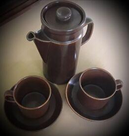 Vintage Wedgwood Pottery Coffee Pot Set