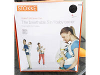 Stokke Black MyCarrier Cool 3 in 1 Breathable Baby Carrier New in Box
