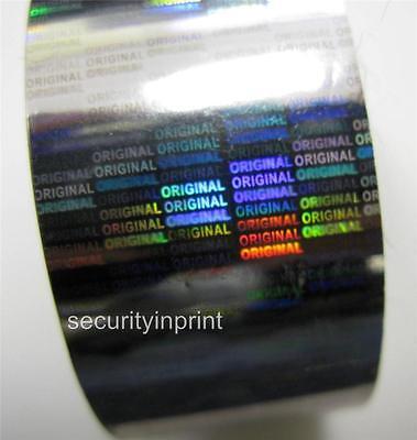 Holográfico Plateado Seguridad Caliente Sellado Papel Aluminio