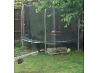 Trampoline and safety net
