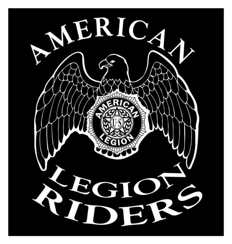 AMERICAN LEGION RIDERS 9X10 MOTORCYCLE ASSN MILITARY CAR TRUCK DECAL STICKER