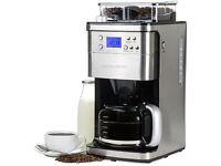 Andrew James Premium Chrome Coffee Machine with New 2 x 250g Illy Tins