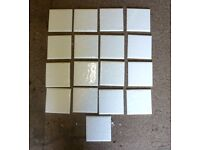 FREE set of 17 small white ceramic tiles for bathroom/kitchen