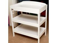 East Coast Clara changing table in white