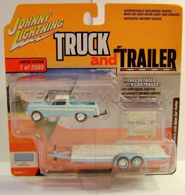 1964 '64 FORD RANCHERO W/ CAR TRAILER TRUCK AND TRAILER JOHNNY LIGHTNING -
