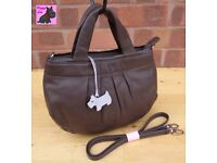 RADLEY - 'Petticoat Lane' Small Brown Leather Multiway Bag *Excellent Condition