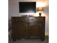 Sideboard - Livingroom Vintage Dark Solid Heavy Wood Used - Palmers Green London