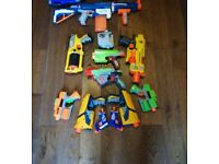 Nerf Bundle - 11 guns and assorted bullets.