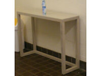 Cream timber console/side table