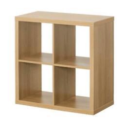 Kallax Ikea cube storage with inserts