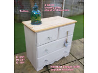Chunky pine chest of drawers
