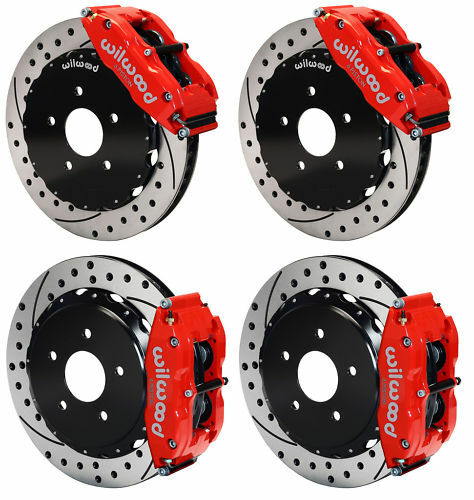 "Wilwood Disc Brake Kit,65-82 Corvette C2 C3,13"",red,drl"