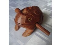 Wooden Frog Instrument - Traditional craft wooden instrument made in Thailand.