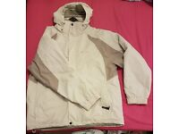 Men's cream and grey ski jacket, size XXL (Eur 58-60)