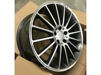 "NEW 19"" MERCEDES C63 AMG STYLE ALLOY WHEELS X4 BOXED 5X112 C E CLASS COUPE E350 C200"