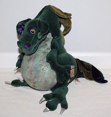 Manhattan Toy Royal Renaissance Green Dragon Plush Stuffed Animal Dinosaur 24