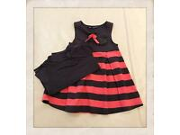 Pink with blue dress,size 4years. Goes with a longsleeve t-shirt