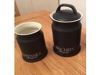 Kitchen utensil storage and Biscuit jar - unused