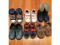 6 pairs of baby shoes size 4-5. Adidas, clarks, next