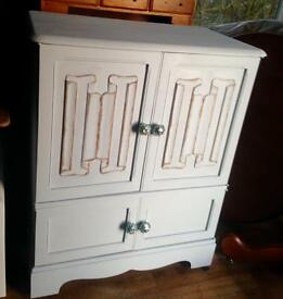 Solid wooden cabinet/tv stand/child's wardrobe Upcycled
