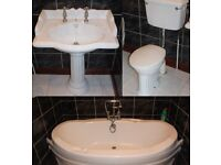 White Bathroom Suite with Large Bath